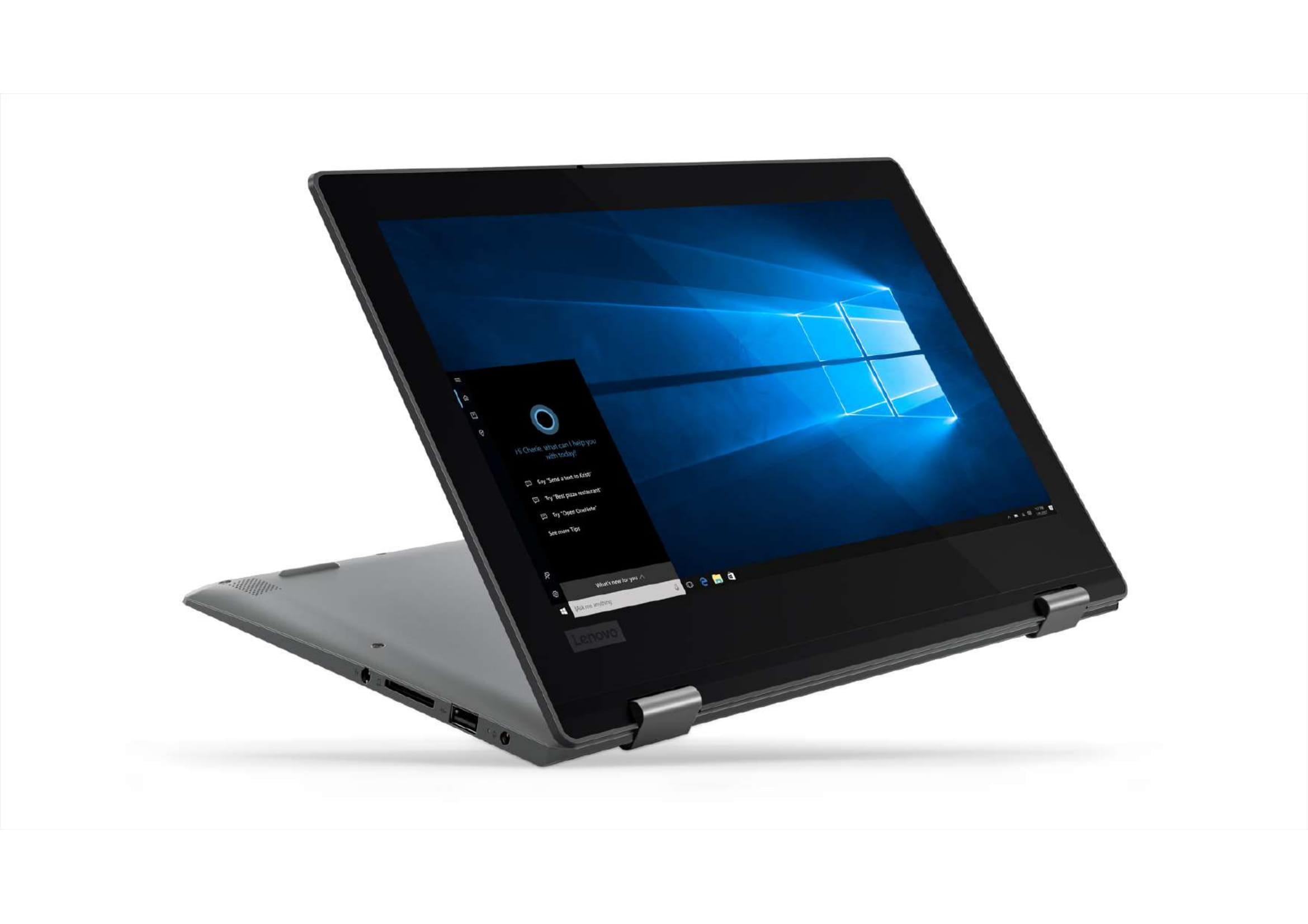 """Lenovo Flex 11 11 6"""" 2 in 1 Laptop, Windows 10, Intel Celeron N4000"""