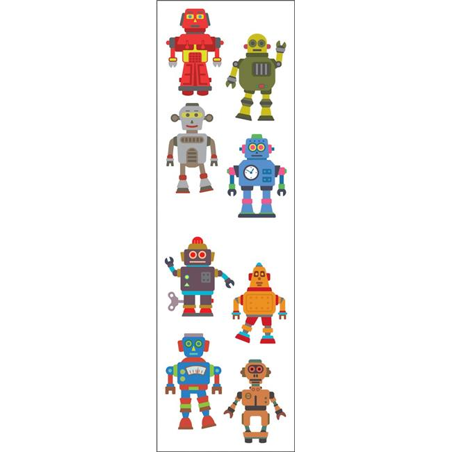 Robots 4 Strips Grossman/'s Stickers Mrs Shiny Photo-like Stickers!