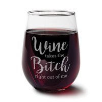 Bitch Stemless Wine Glass