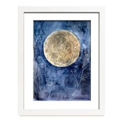 Mai Autumn Moon Garden by Christine Lindstrom Framed Painting Print