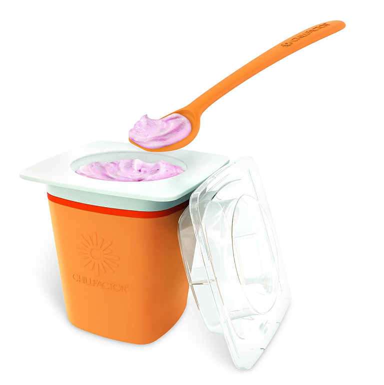 Chill Factor™ FROZEN YOGURT MAKER DIY Yogurt (Color May Vary)