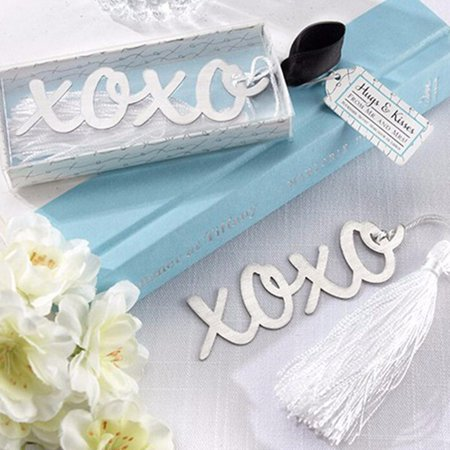 1x Stainless Steel Silver XOXO BOOKMARK Tassels Page Marker Ribbon Box Best Gift - image 1 of 4