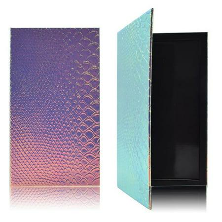 Women Fish-Scale Patterns Empty Magnetic Palette Eyeshadow Blusher Lipstick Lip Gloss Powder Fundation DIY Refill (Hotcoat Powder Gloss)