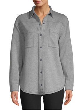 Time and Tru Women's Fleece Button Down