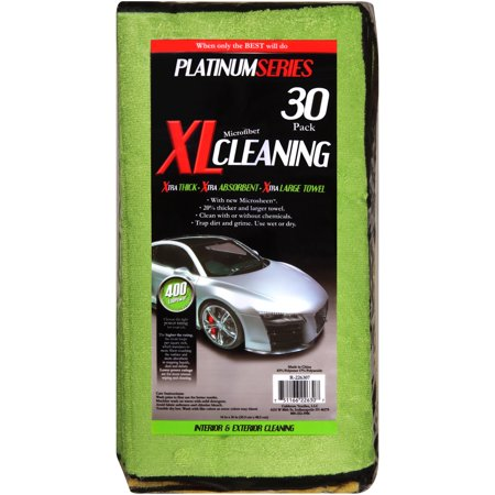 Platinum Series XL Microfiber Cleaning Towels 30 ct Bag