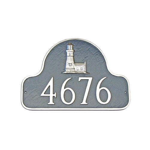 Montague Metal Products Inc. Lighthouse Arch Address Plaque
