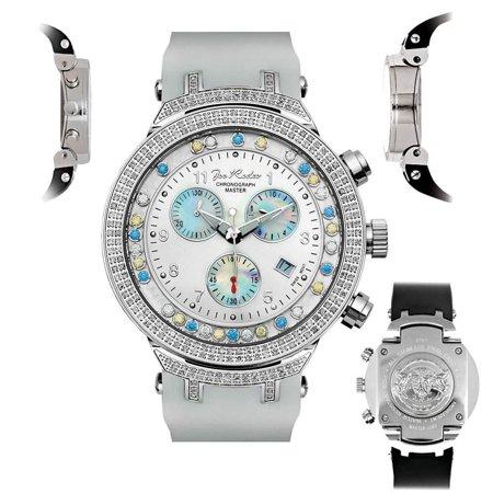 Joe Rodeo Heart (Men's Diamond Watch Joe Rodeo Master JJMS1(WYB) 2.20 Ct Chronograph Dial )