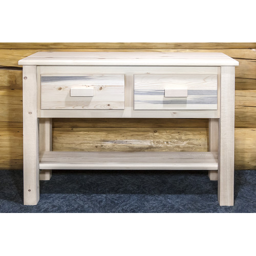 Montana Woodworks MWHCET Homestead Collection Table, Entry-Sofa Ready To Finish