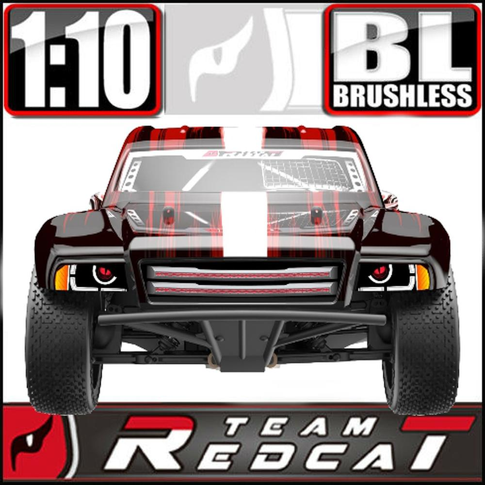 Tr-Sc10E-Red 1 10 Scale Brushless Electric Short Course Truck Red Truck by Team Redcat