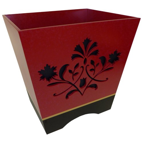 Better Homes and Gardens Red Scroll Decorative Collection Wastecan