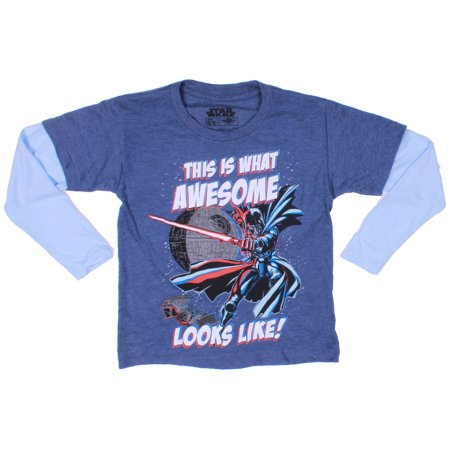 Mad Engine Kids Star Wars This Is What Awesome Long Sleeves Boys Top Tee Shirt - Kids Star Wars
