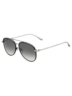 d8084144b91 Product Image Jimmy Choo Metal Aviator Sunglasses 57 0JIN Shiny Black (IC gray  mirror shaded silver lens