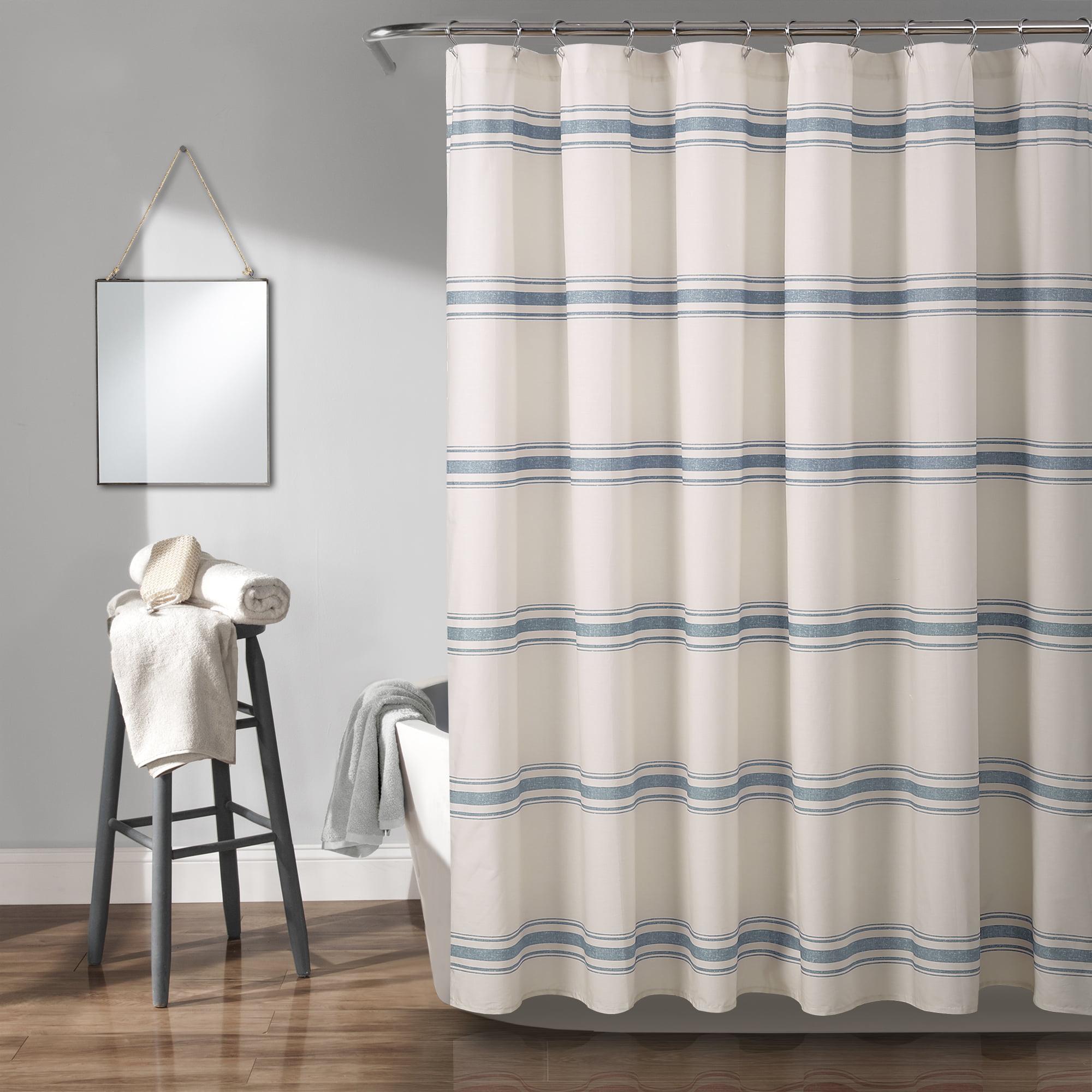 Lush Decor Farmhouse Stripe 72 X72 Shower Curtain Walmart Com Walmart Com