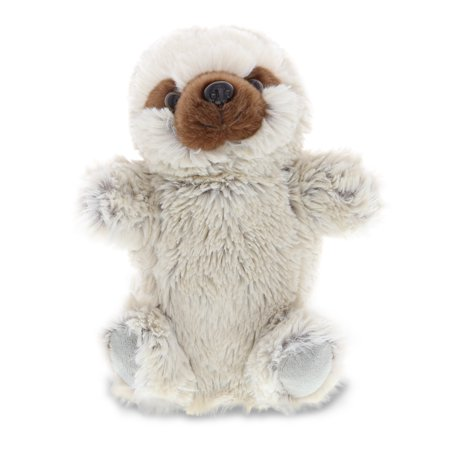 DolliBu Sloth Plush Hand Puppet For Kids, Soft Furry Stuffed Animal Hand Puppet Toys for Puppet Show Games & Puppet Theaters for Kids, Adult's Cute Puppets Educational Toy to Teach Children & Toddlers