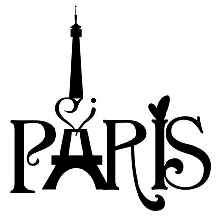 Mosunx Eiffel Tower Paris Love Vinyl Art Wall Stickers Home Mural Decal - Eiffel Tower Decor