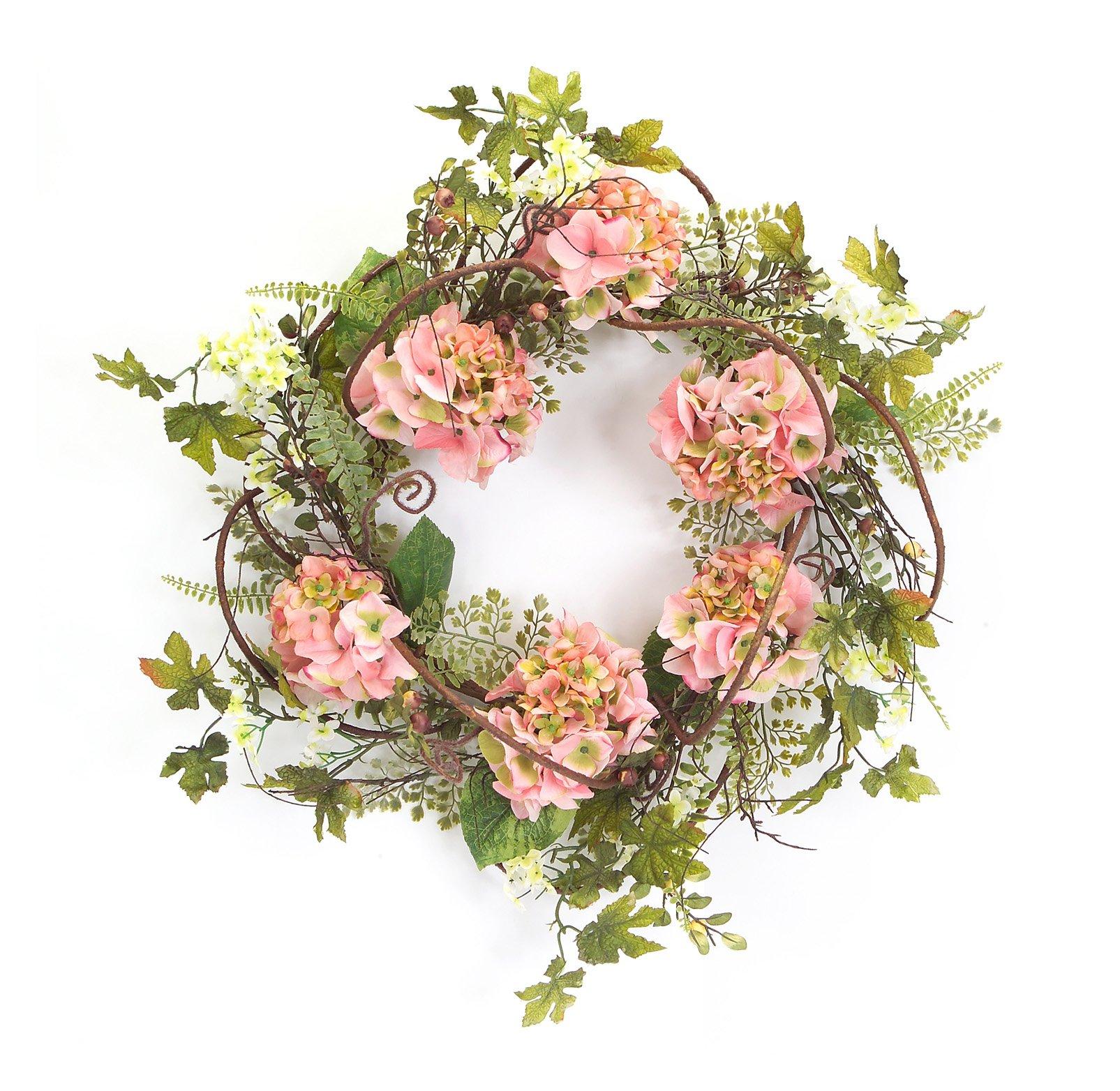 Melrose International Hydrangea Wreath - Peach