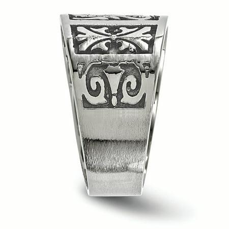 Edward Mirell Titanium Flat Casted Brushed & Polished Ring Size 9 - image 1 de 4