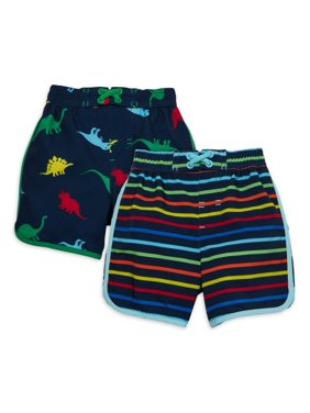 Wonder Nation Baby Toddler Boy Swim Trunks, 2-pack