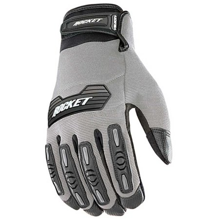 Velocity 2.0 Men's Textile Street Motorcycle Gloves - Silver/Black / X-Large, Textile Black fingers Full Helmet Gloves HiVis Street Qualifier 50.., By Joe Rocket Ship from US - Finger Rockets