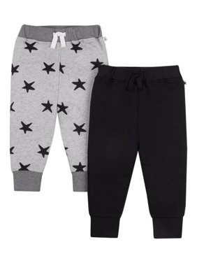 Little Star Organic Baby & Toddler Boy Brights Jogger Pants, 2-pack