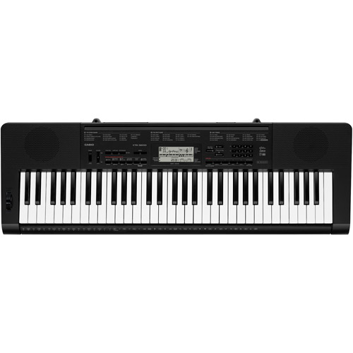 Casio CTK-3200 61-Key Touch Sensitive Personal Keyboard with Pitch Bend Wheel and Power Supply