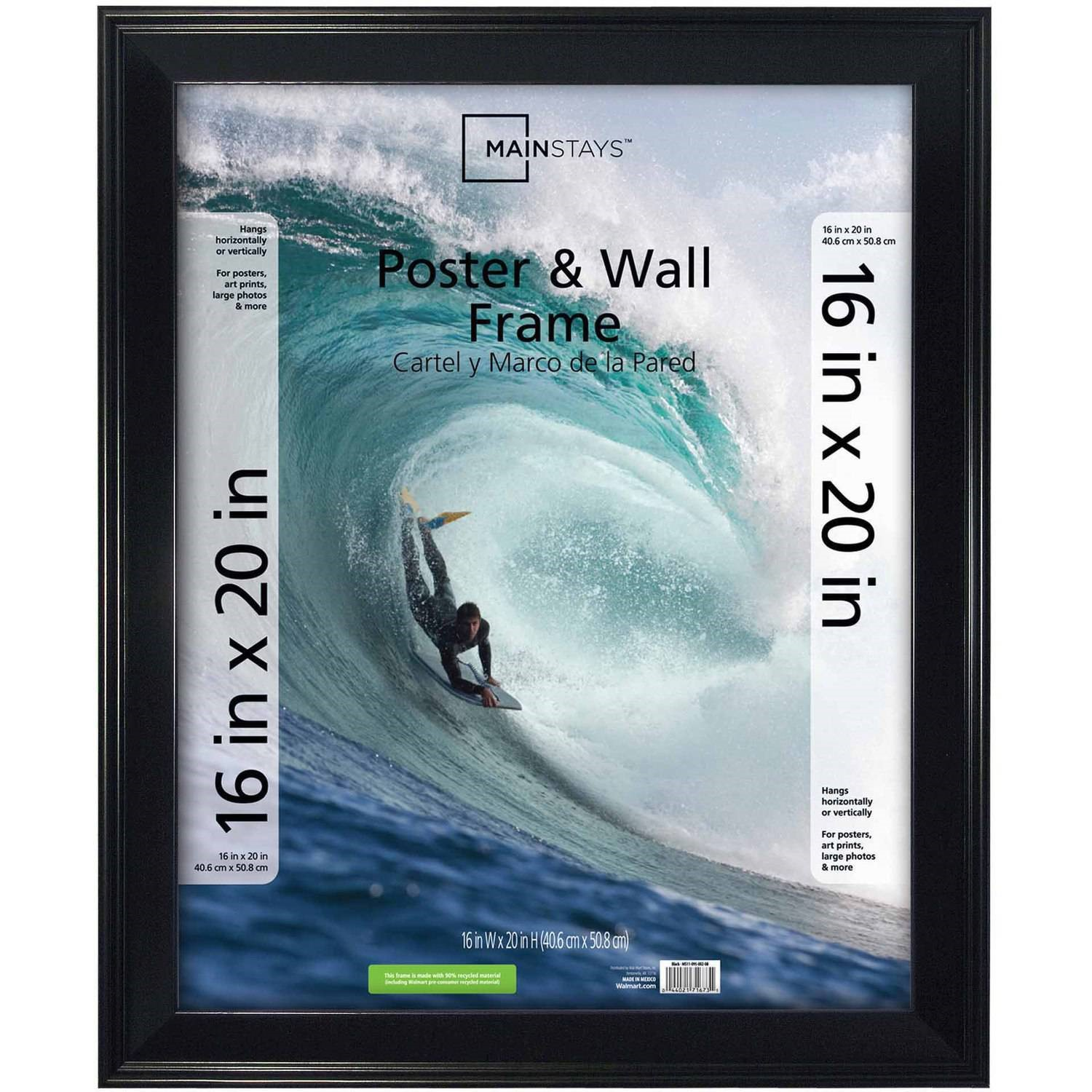 """Mainstays 16"""" x 20"""" Beveled Poster and Picture Frame, Black by MCS Industries, Inc."""