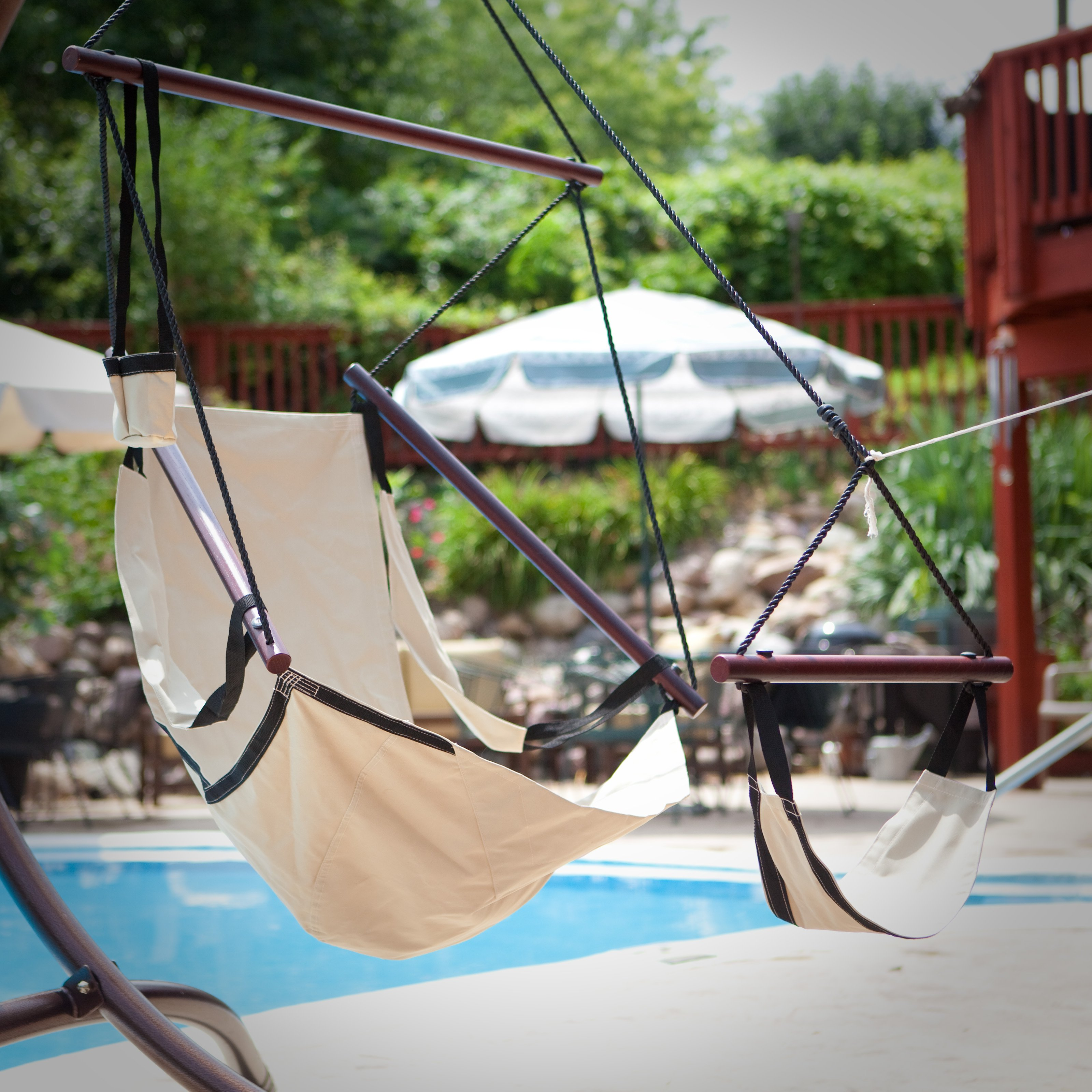 The Ultimate Hanging Chair - Burgundy