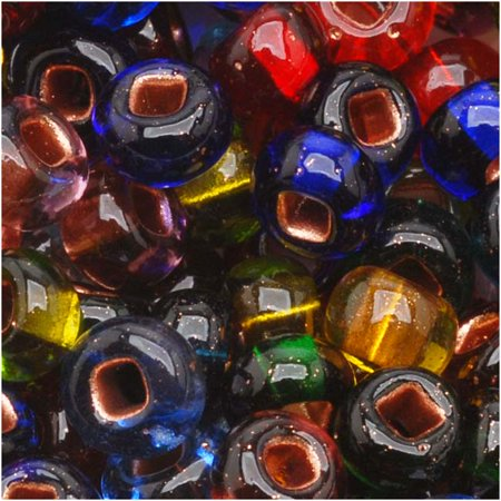Czech Seed Beads 6/0 Mix Carnival Copper Foil Lined (1 Ounce)