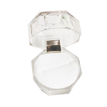 Accessories Jewelry Box - Simply Design Acrylic Tranparent Small Box Portable Ring Earring Polygon Jewelry Box Jewelry Accessories