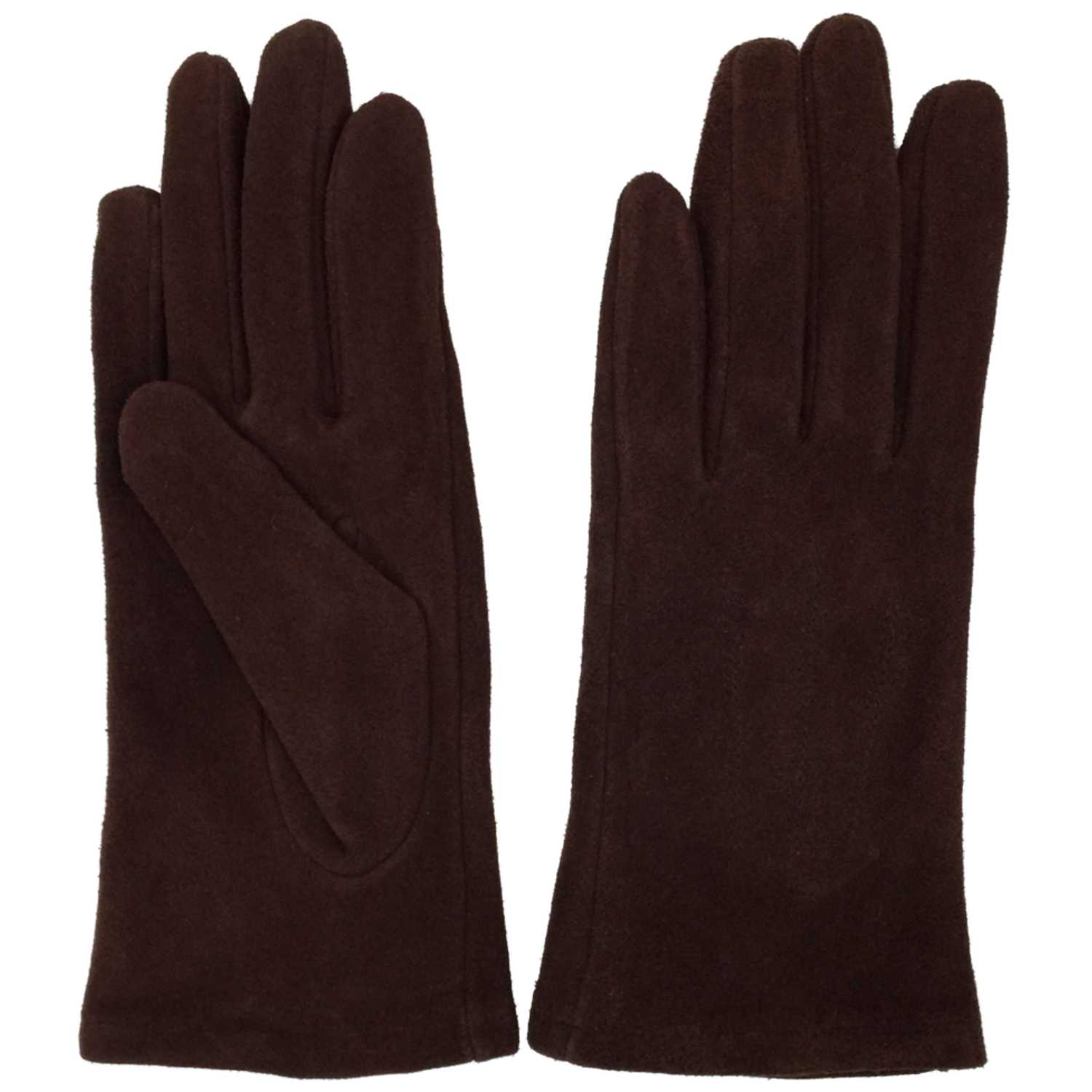 a1171b17e Womens Brown Suede Leather Driving Gloves Fleece Lined - Walmart.com