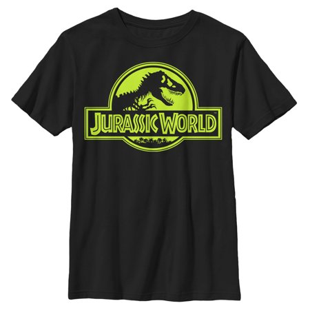 Jurassic World Boys' Retro T. Rex Logo T-Shirt - Boys Retro