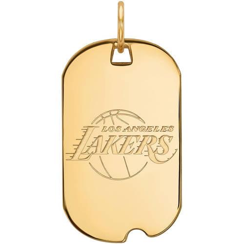 NBA Los Angeles Lakers 14kt Yellow Gold Small Dog Tag