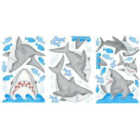 Borders Unlimited 10007 Fishn Sharks Super Jumbo Applique - image 1 de 2