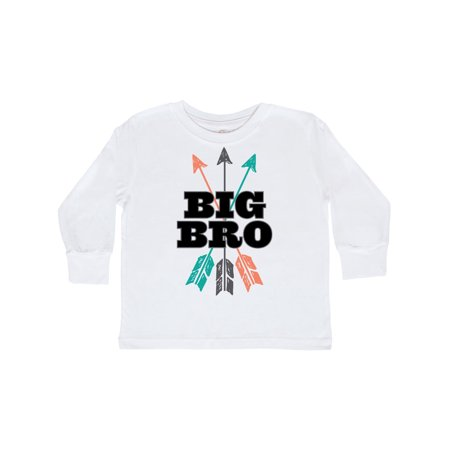 Big Bro Arrow Native Boys Brother Announcement Toddler Long Sleeve T-Shirt - Native Bow And Arrow