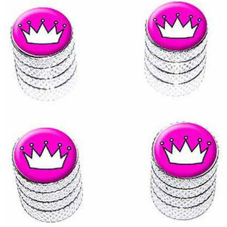 Crown Valve Caps - Princess Crown Tiara Tire Rim Wheel Aluminum Valve Stem Caps, Multiple Colors
