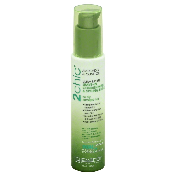 Giovanni 2chic Ultra-Moist Leave-In Conditioning & Styling Elixir, 4 oz.