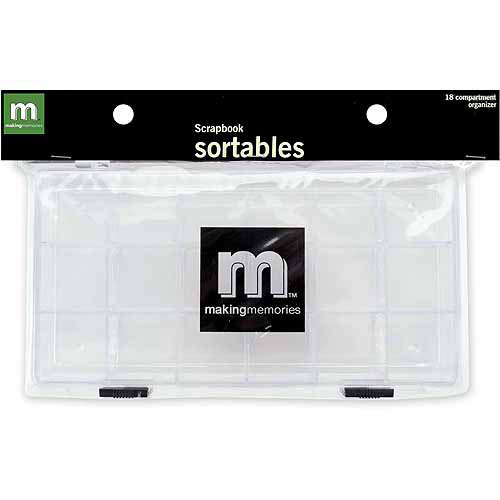 Making Memories Scrapbook Sortables Compartment Organizer
