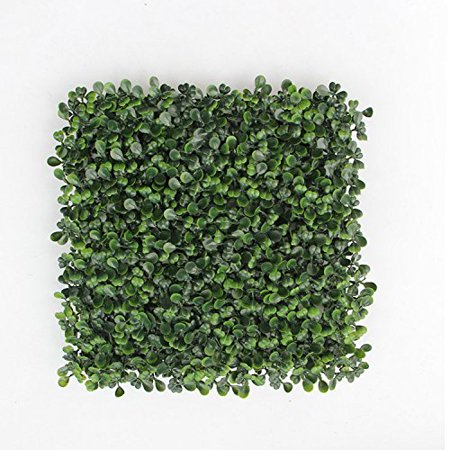 SkyBay Artificial Boxwood Topiary Hedge Plant Privacy Fence Screen Greenery Panels Suitable for Both Outdoor or Indoor, garden or backyard Wall and home decor (1 piece) ()