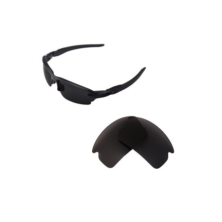 Walleva Black Polarized Replacement Lenses for Oakley Flak 2.0 (Oakley Beckon Replacement Lenses)