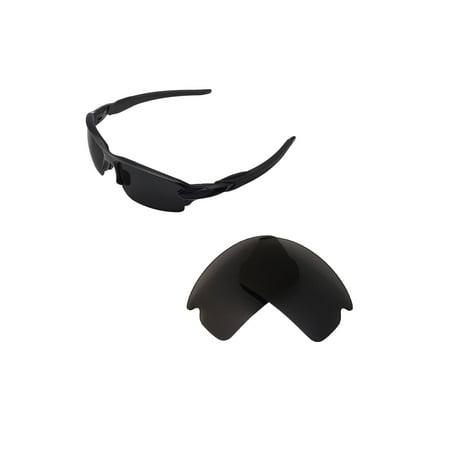 Walleva Black Polarized Replacement Lenses for Oakley Flak 2.0 Sunglasses