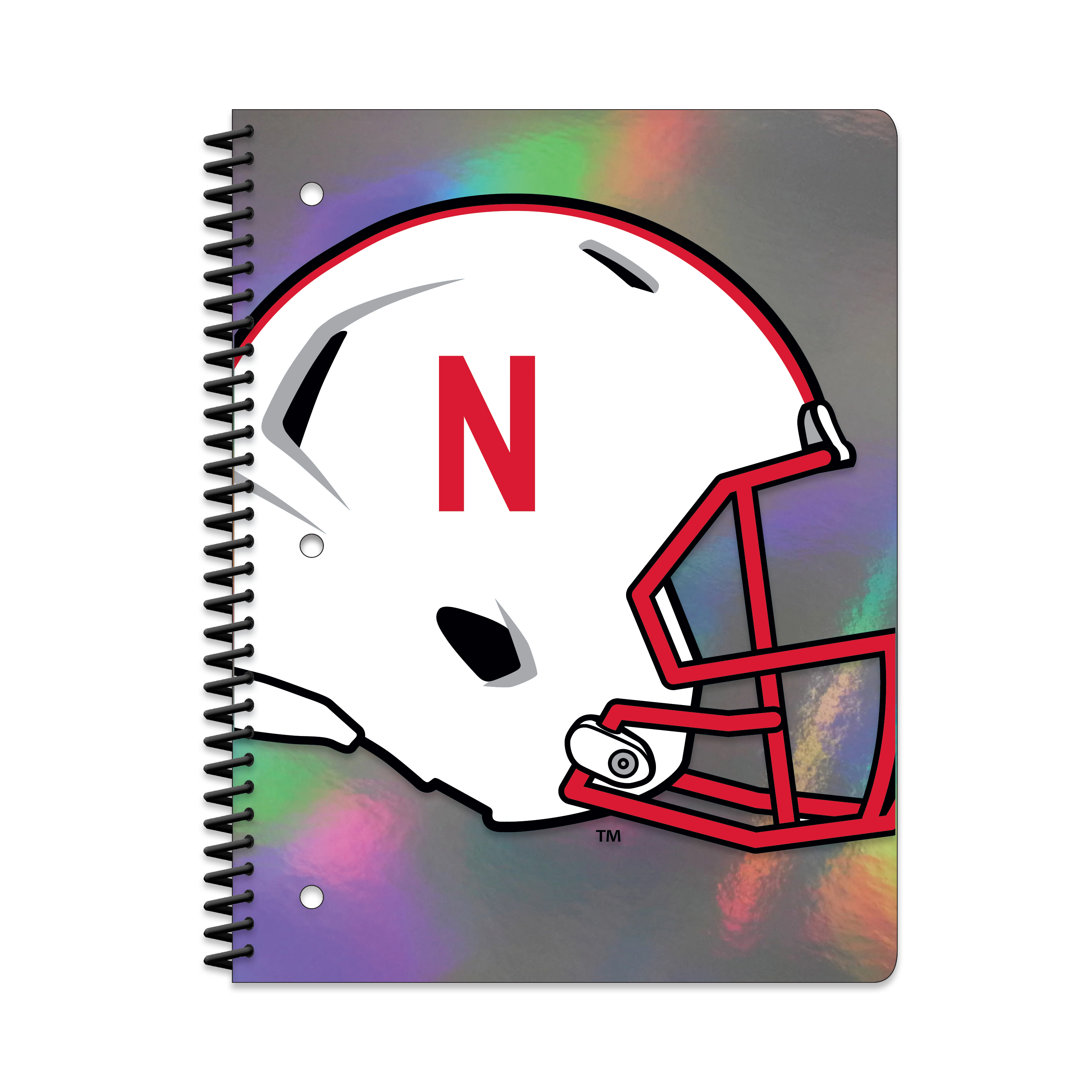 NEB CORNHUSKERS HOLOGRAPHIC 1-SUBJECT NOTEBOOK