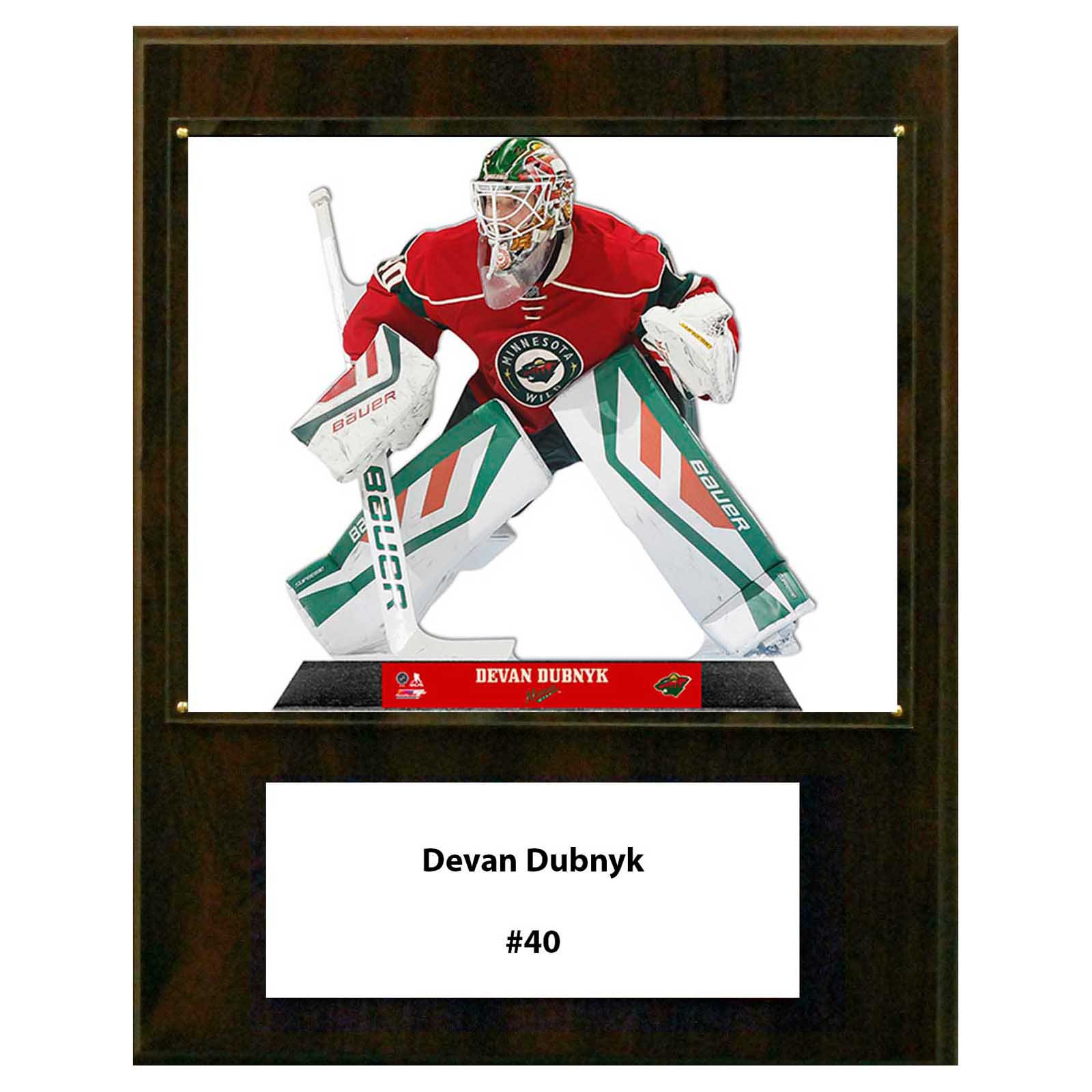 C&I Collectables NHL 12x15 Devan Dubnyk Minnesota Wild Player Plaque