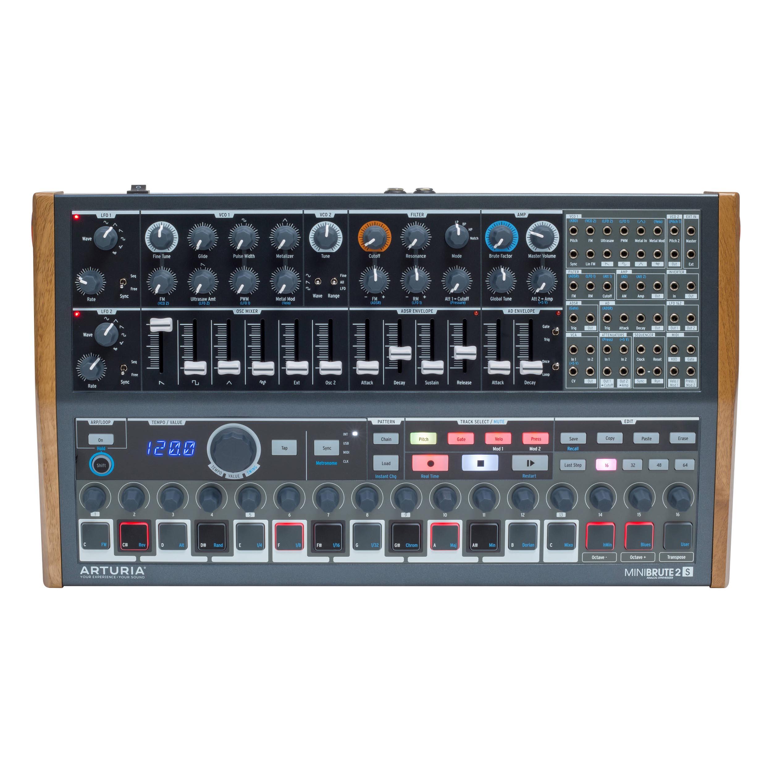 Arturia MiniBrute 2S Semi-Modular Analog Synthesizer/Sequencer