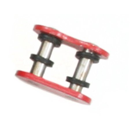 O-ring Chain Rivet Link (Factory Spec, FS-520-OR-RML, O-Ring Chain Master Link Rivet Style Red 520 Pitch)