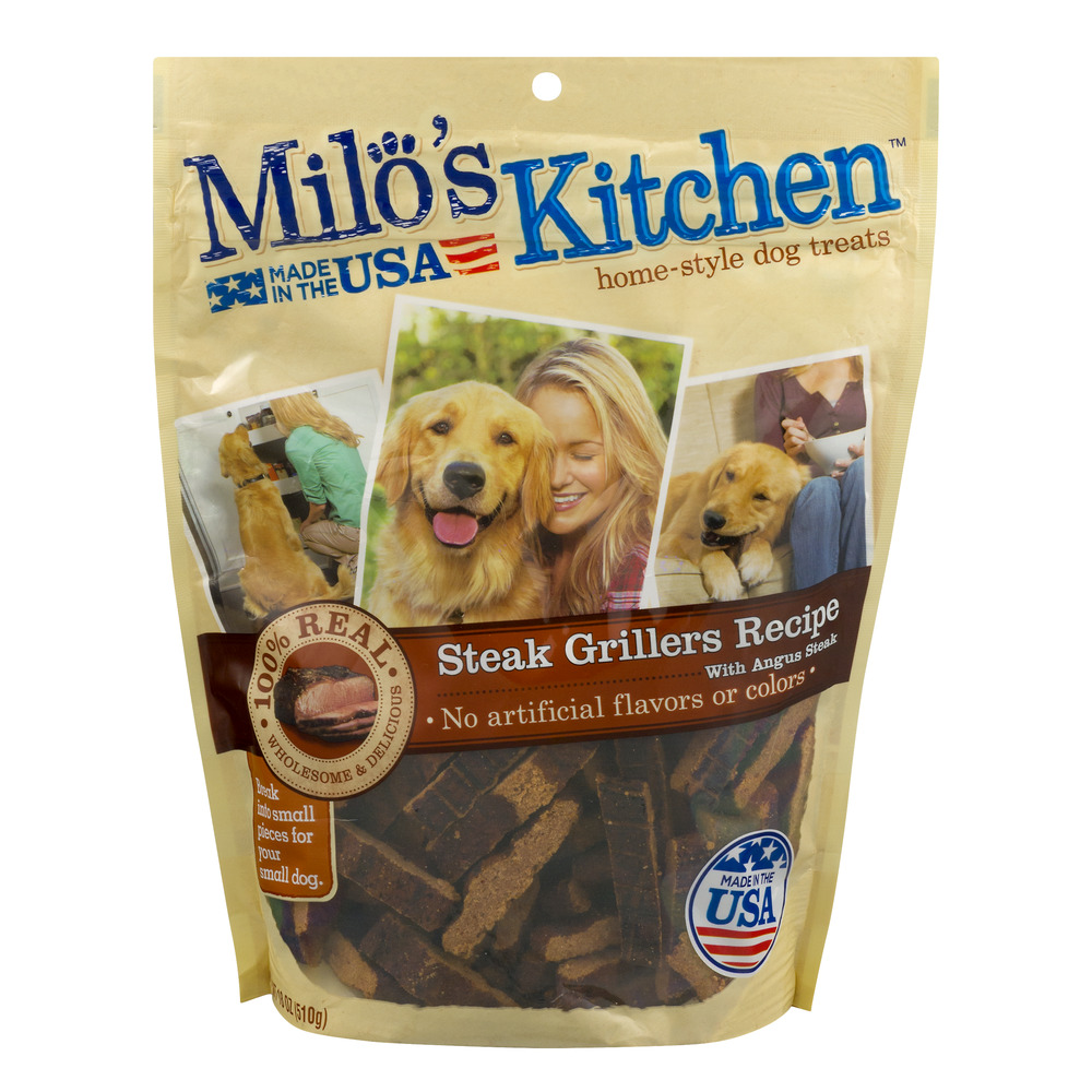 Milo's Kitchen Steak Grillers Beef Recipe With Angus Steak Dog Treats, 18-Ounce by Milo's Kitchen LLC