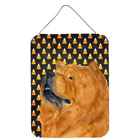 Chow Chow Candy Corn Halloween Portrait Wall or Door Hanging - Halloween Portraits