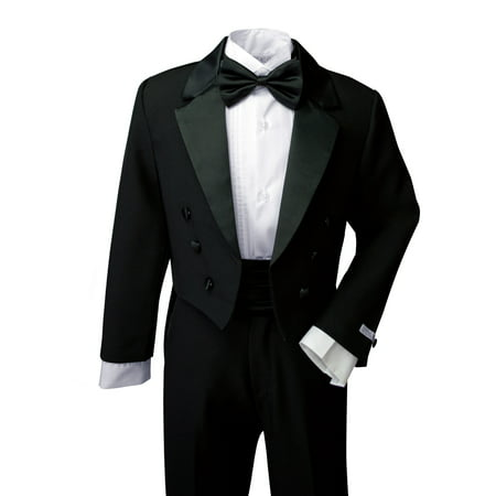 Spring Notion Boys' Classic Tuxedo with Tail Black - Tail Tuxedo