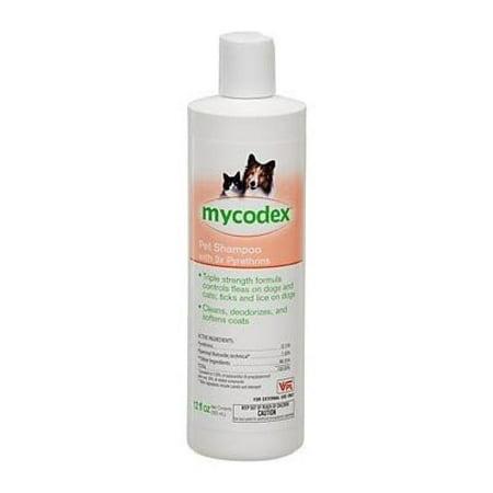 (Mycodex Flea-tick Pet Shampoo with 3x Pyrethrins 12 oz)