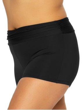 BCA Women's Plus Size Charlie Boyshort Swimsuit Bottom