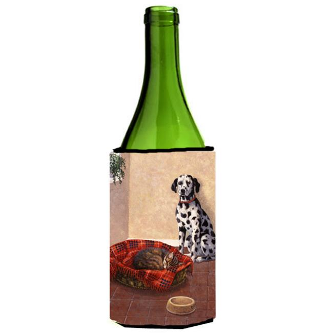 Dalmatian Somebody is in My Bed Wine Bottle Can cooler Hugger